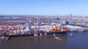 At 11,000 TEU, the MSC Avni ship is the largest ever to call on the Philadelphia Port.